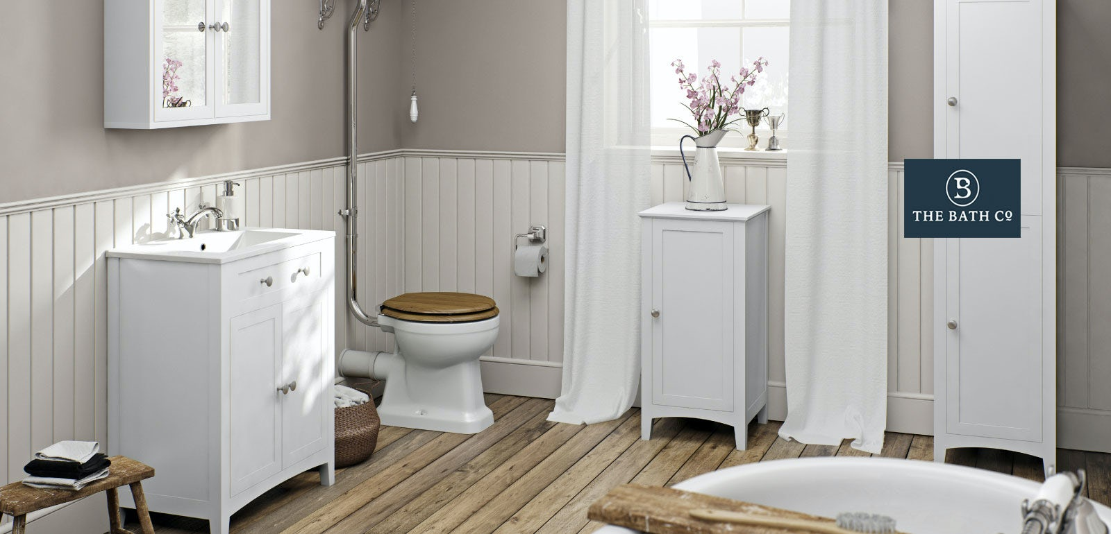 Camberley white bathroom furniture for White bathroom furniture