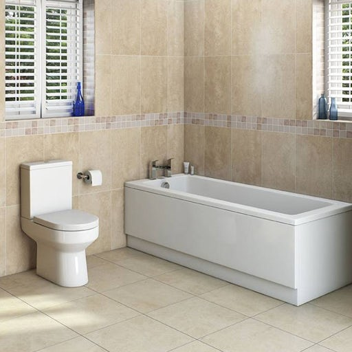 straight bath and close coupled toilet
