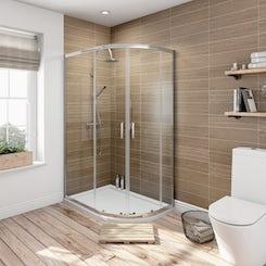 6mm sliding door offset quadrant shower enclosure