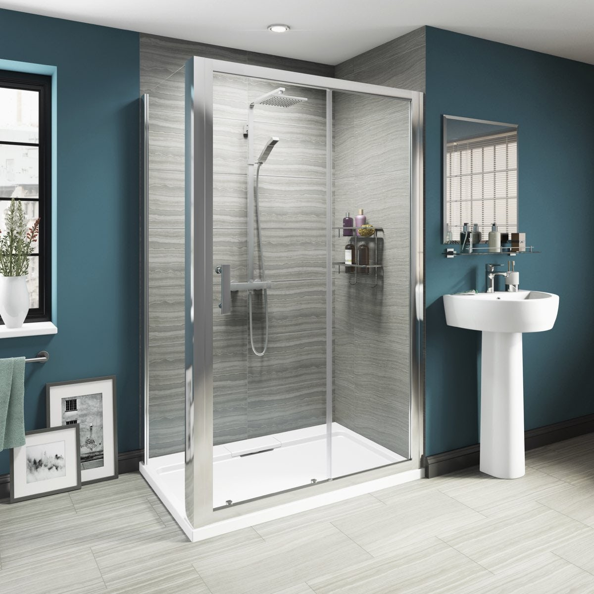Mode luxury 8mm sliding door shower enclosure - Luxury shower cubicles ...