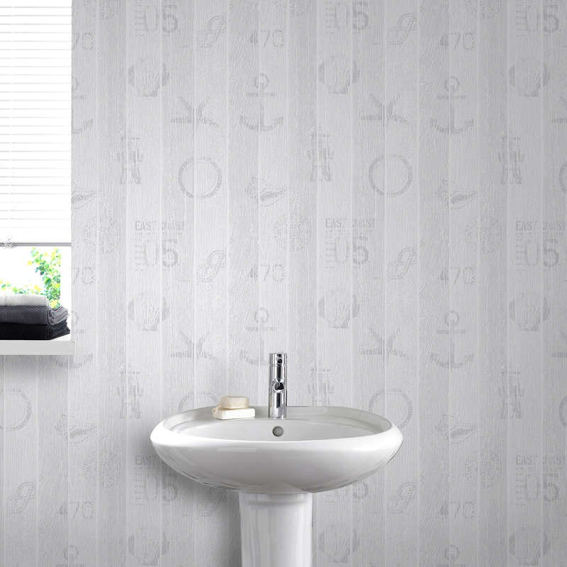 Nautical grey wallpaper