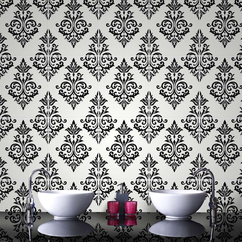 Contour pallade black and white wallpaper