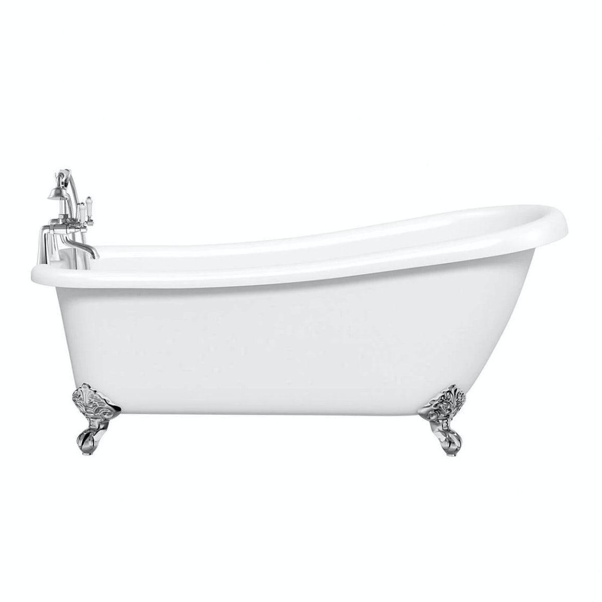 Deco Bathroom Suite With Slipper Bath Small Victoriaplum Com
