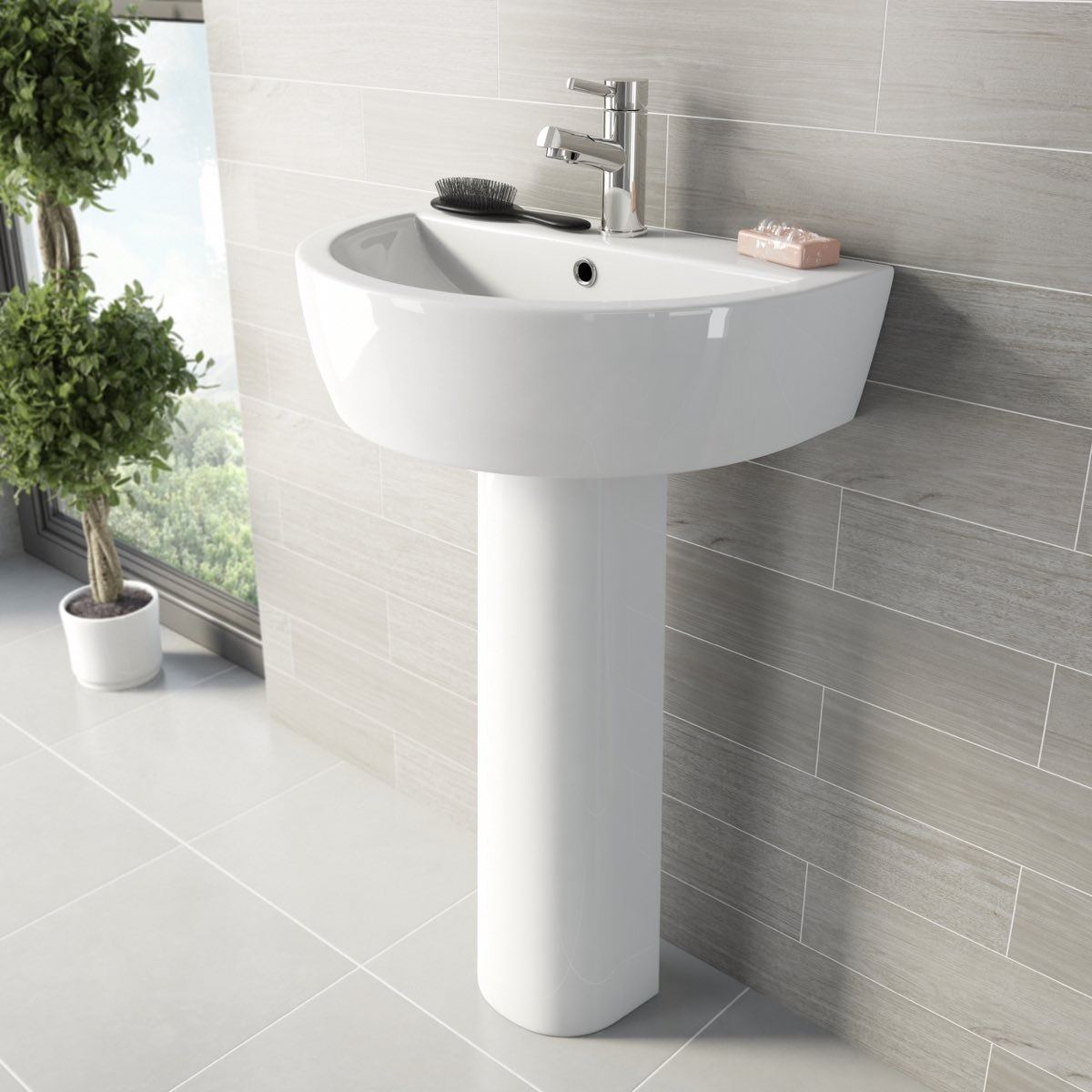 Mode Arte Bathroom Suite With Arte Freestanding Bath 1500