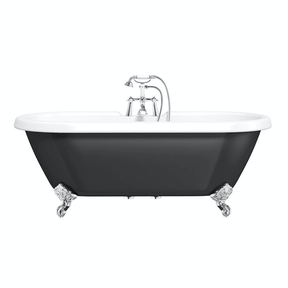 the bath co shakespeare traditional roll top bath with ball feet