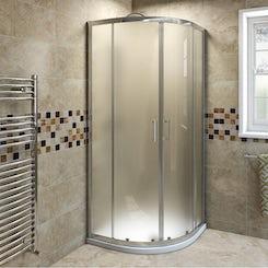 6mm frosted glass sliding quadrant shower enclosure 900 x 900 offer pack