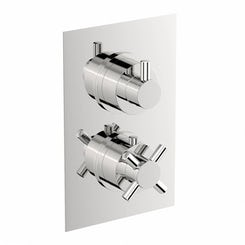 Mode Alexa square twin thermostatic shower valve offer pack