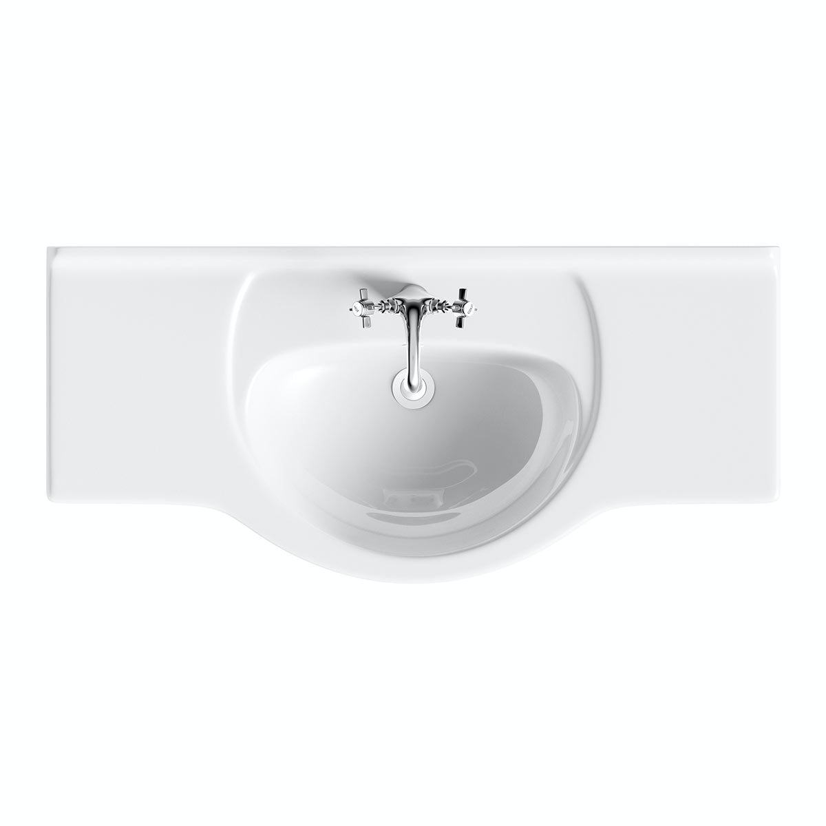 Sienna Oak 105 Vanity Unit Basin