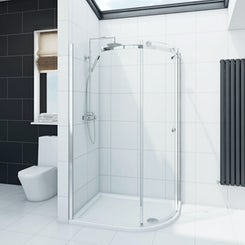 Mode Infiniti 8mm right handed offset quadrant shower enclosure