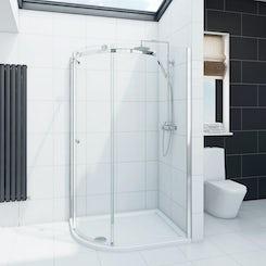Mode Infiniti 8mm left handed offset quadrant shower enclosure