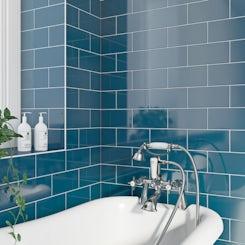 Beautiful Atrium Blue  Retro Metro  Wall Amp Floor Tiles  Midcentury  Tile