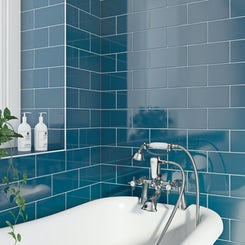 Beautiful Atrium Blue  Retro Metro  Wall Amp Floor Tiles  Midcentury  Tile