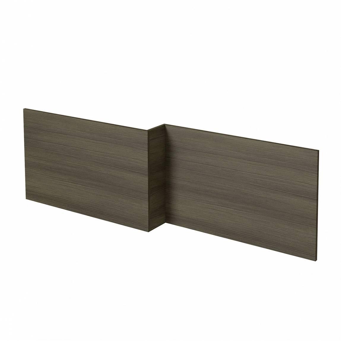 l shaped shower bath wooden front panel drift walnut premier 1500mm l shaped shower bath with acrylic front