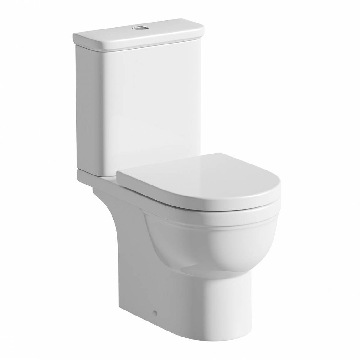 Deco close coupled toilet with soft close toilet seat for Wc deco modern
