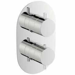 Mode Matrix oval twin thermostatic shower valve