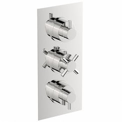 Mode Alexa square triple thermostatic shower valve with diverter offer pack