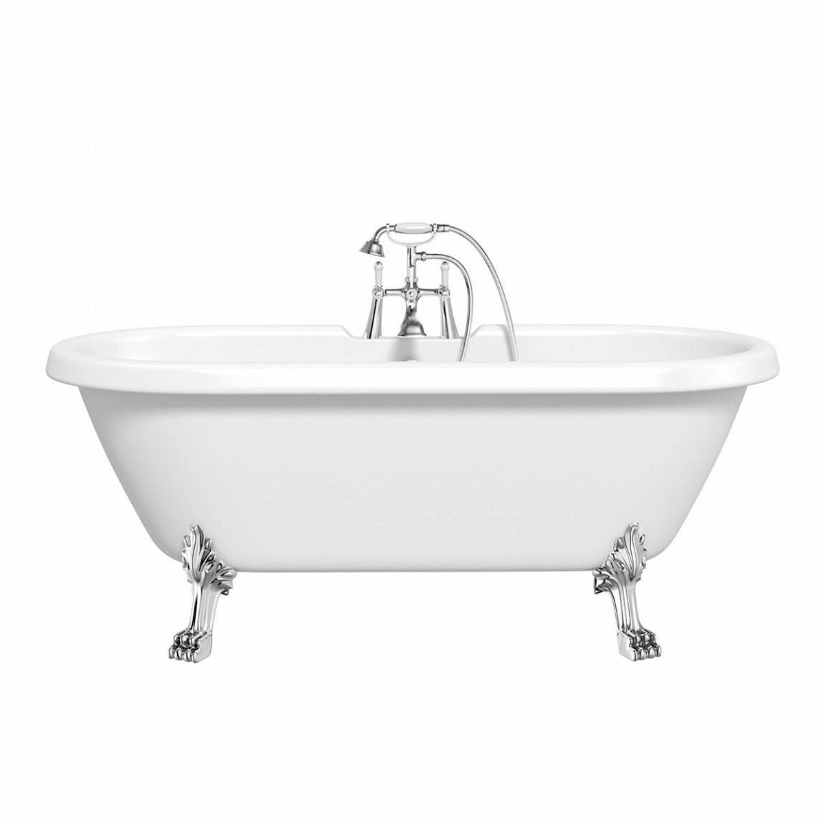 Shakespeare Roll Top Bath With Dragon Feet 1700mm Offer Pack