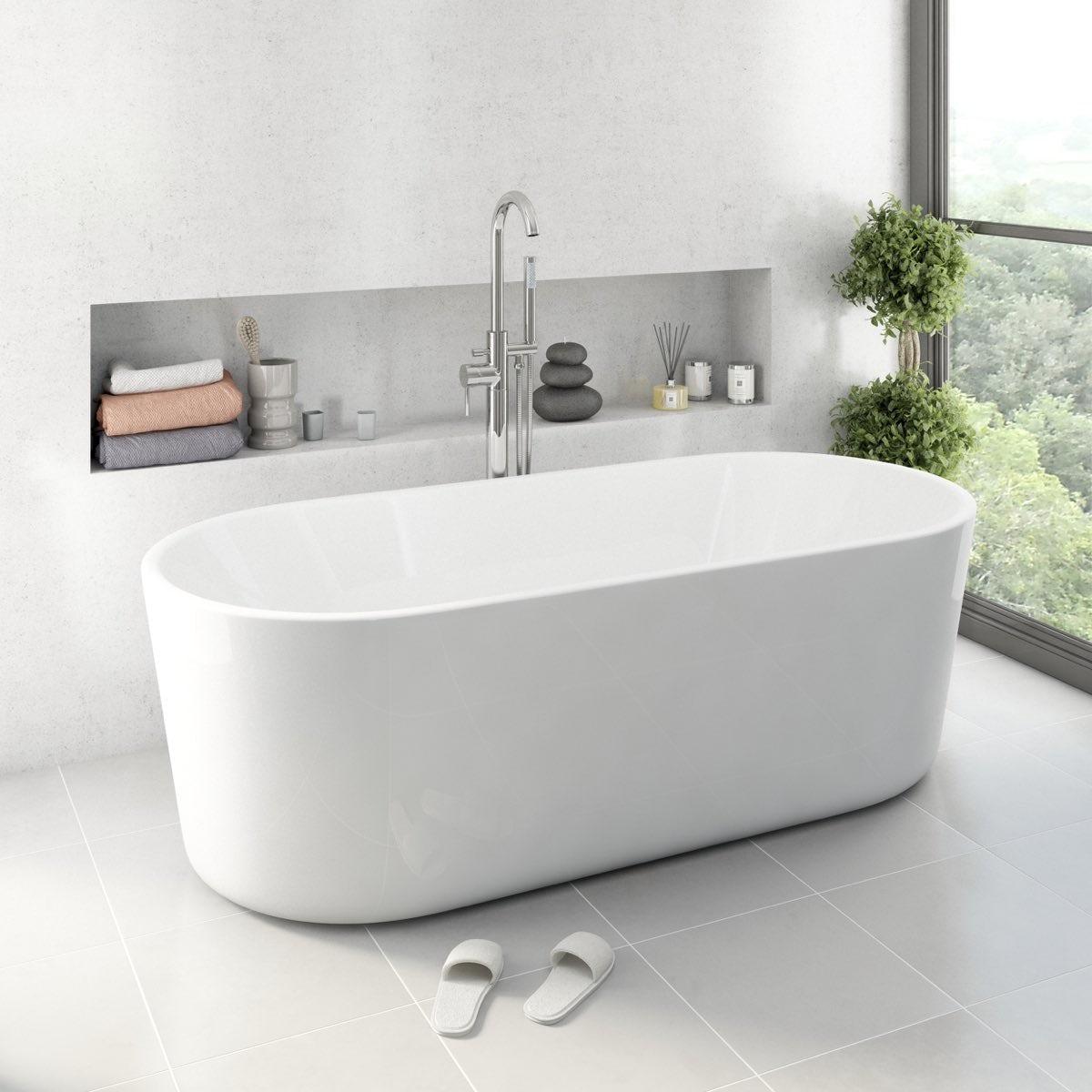 Mode Arte Bathroom Suite With Arte Freestanding Bath 1500